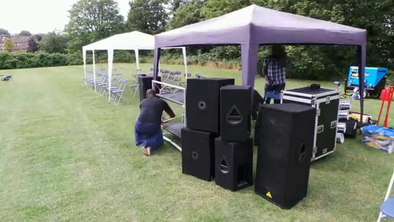 Family day Equipment Setup in London