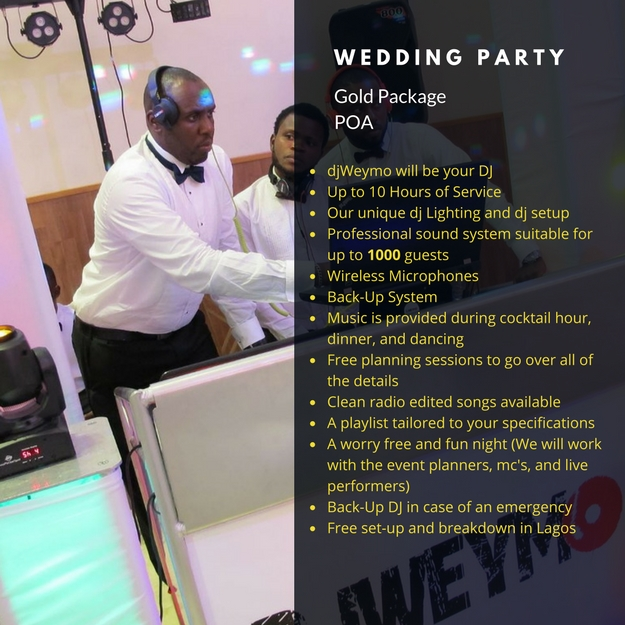 Wedding Party Gold Package