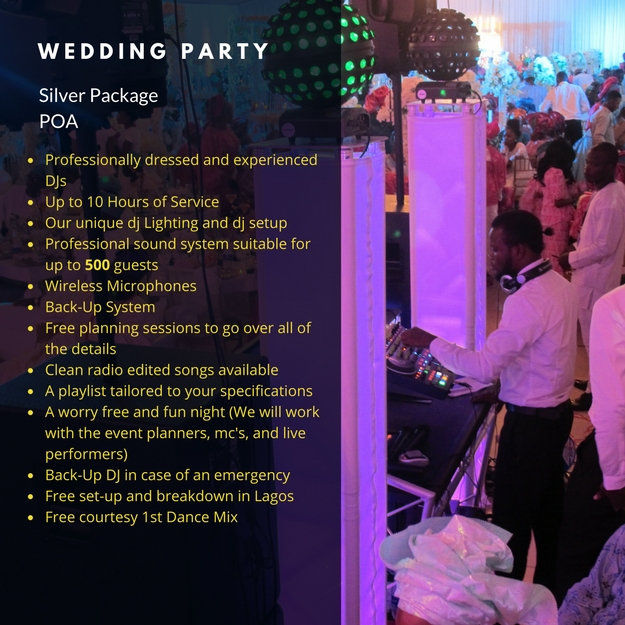 Wedding Party Basic Package Lagos